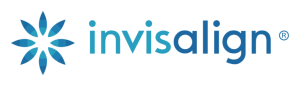 Logo of Invisalign, the invisible braces for adults and teens. available at Sherman Oaks in Naperville, Illinois